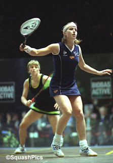 Sarah Fitz-Gerald competes in the 2001 British Open