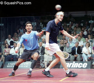 James Willstrop defeats Thierry Lincou in the final of the English Grand Prix 2007