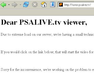 The PSAlive server overloaded during the British Open finals