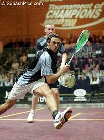Ramy Ashour in action in the 2008 Tournament of Champions