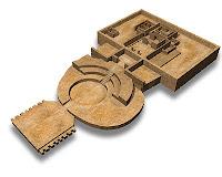 Simulação da arquitetura da antiga cidade de Caral