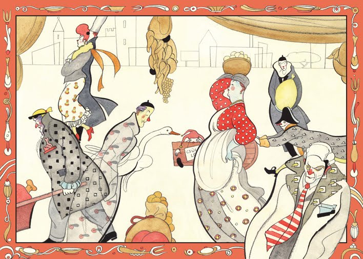 Illusztráció A palacsintás király című mesekönyvhöz (Cerkabella Kiadó, 2009)