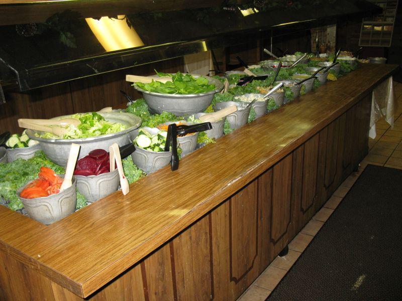 Sald Bar Restaurant Fast Food Decor
