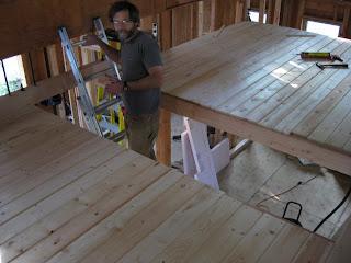 Mark And Kim S Building Blog Loft Floor