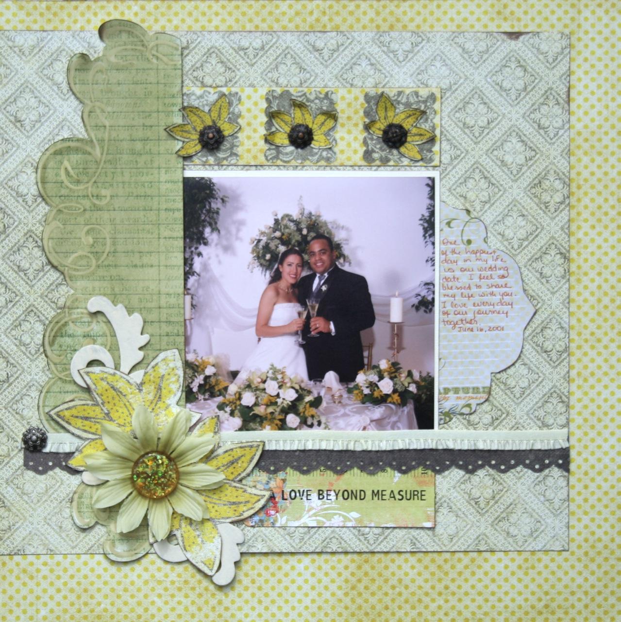 Beloved Blog Wedding Scrapbook Page Ideas