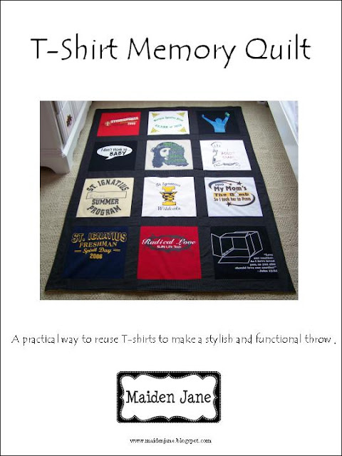 T-Shirt Memory Quilt Pattern