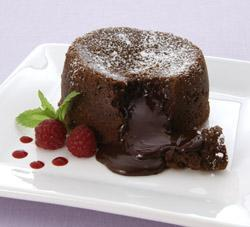 decadent molten chocolate cake recipe