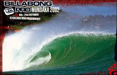 Poster del Billabong Pro Mundaka del 2002