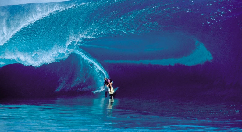 Laird Hamilton, surf stand up paddle, tow-in teahupoo