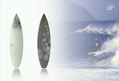 tabla de surf con gps