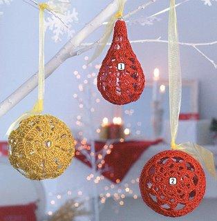 esferas navideñas a ganchillo