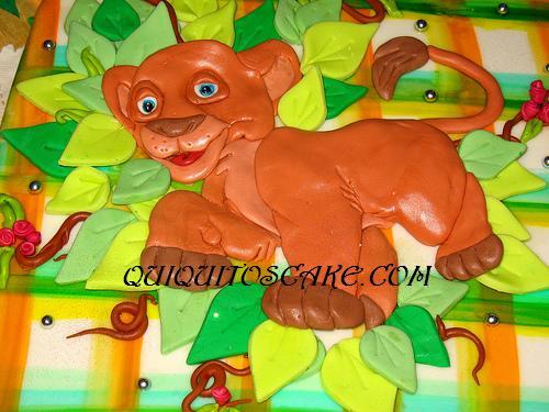 Torta modelada del Rey León