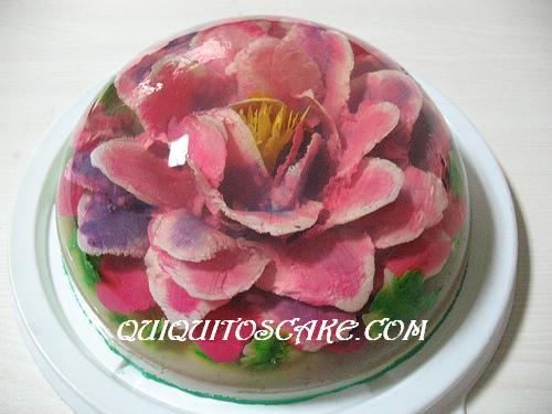 Gelatina floral 3 D