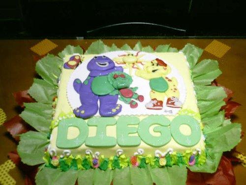 Torta barney modelada 3 D