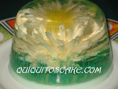 Gelatina floral 3D