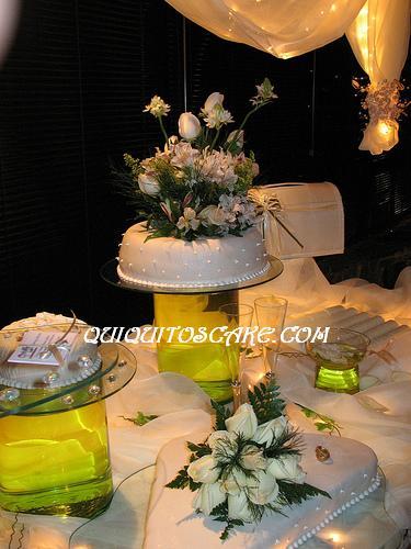 Torta y decoración de boda