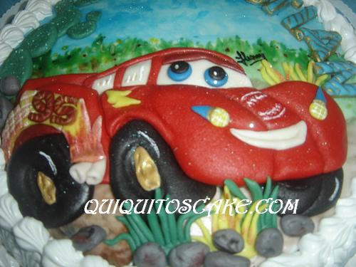 Torta tridimensional de cars