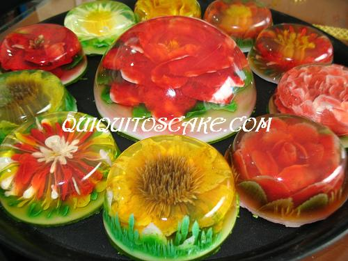 Gelatina florales 3 D