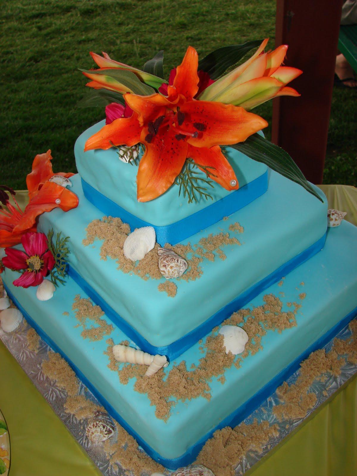 Heather's Creations: Luau theme cake, birthday