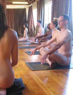 Nude yoga coed suck own