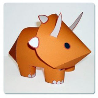 Andrew the Triceratops Papercraft