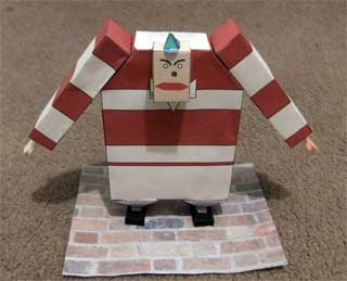 Tweedle Dee Papercraft