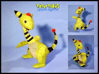 Pokemon Ampharos Papercraft