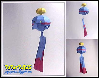 Pokemon Chimecho Papercraft