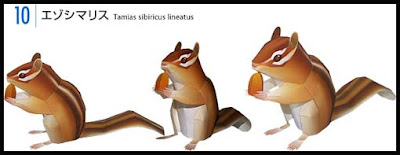 Japanese Chipmunk Papercraft