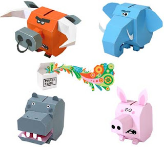 Cube Animal Papercraft Toys