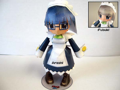 Kamen no Maid Guy Papercraft