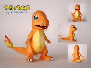 Pokemon Charmander Papercraft 2