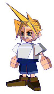 Young Cloud Strife Papercraft