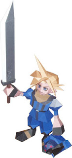 Final Fantasy Shinra SOLIDER Cloud Papercraft