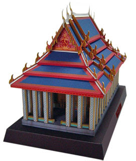 Temple of the Emerald Buddha Papercraft
