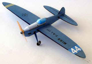 Miss FAI Airplane Papercraft