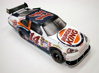 Burger King NASCAR Papercraft