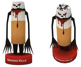 Smoking Kills Paper Toy