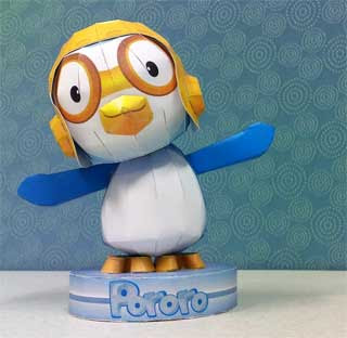 Pororo the Little Penguin Papercraft