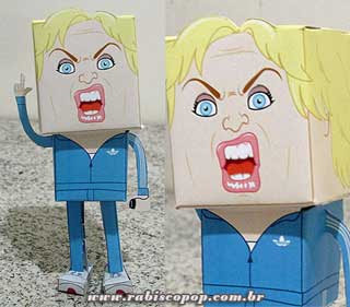 Glee Papercraft Sue Sylvester