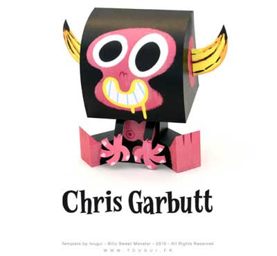 Billy Sweet Monster Paper Toy Christ Garbutt