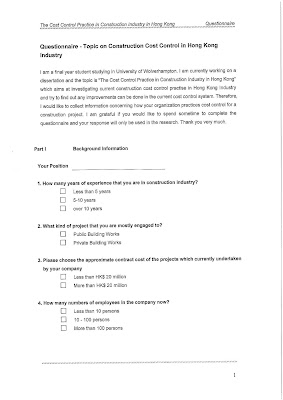 Constructing questionnaire dissertation