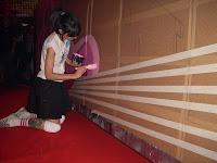 la artista malagueña Agente morillas en plena acción