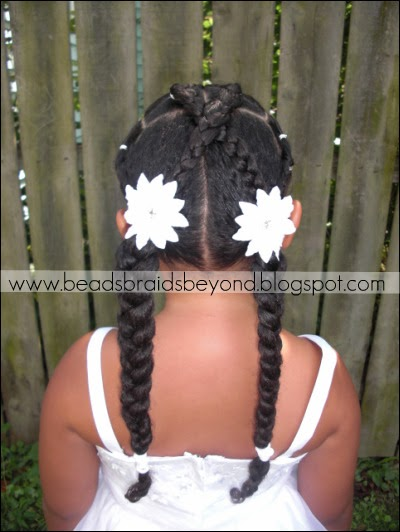 Beads Braids And Beyond Natural Flower Girl Hair Style