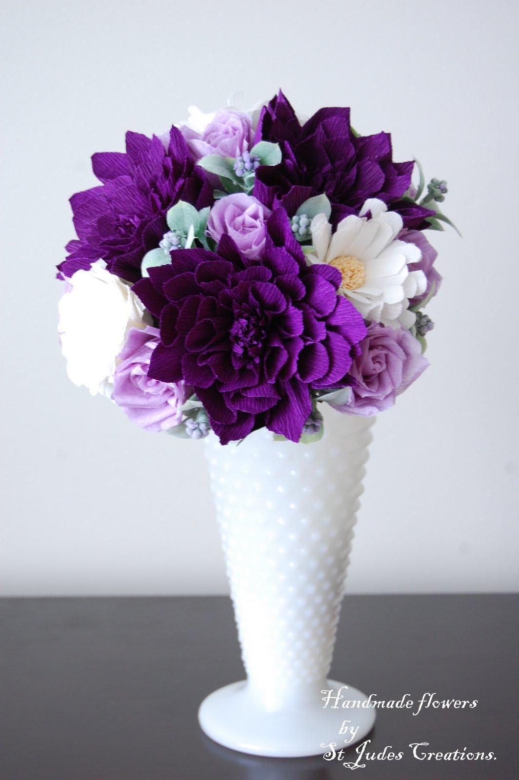purple dahlia bouquet petite