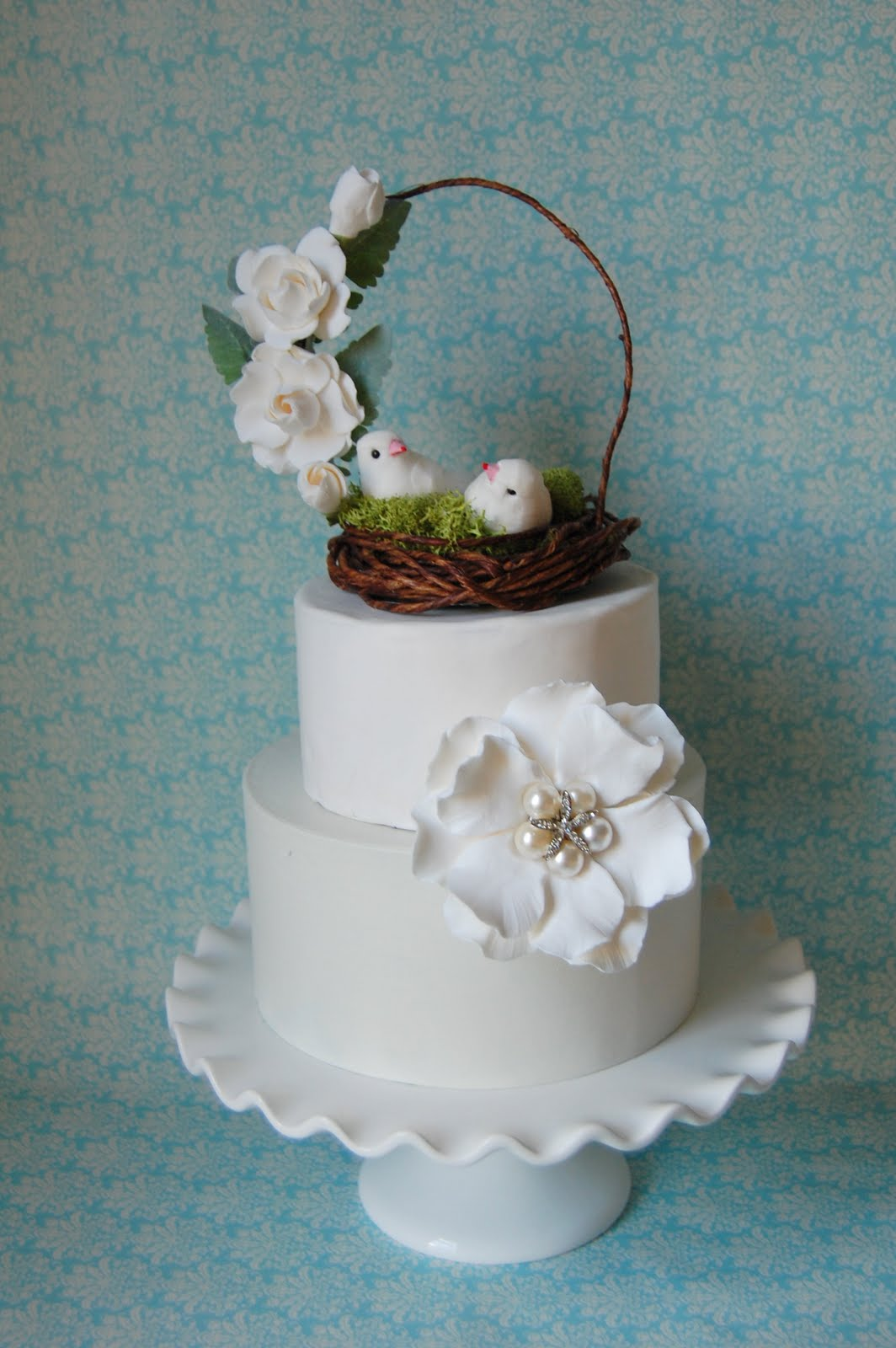 Wedding Cake Topper Woodland Handmade Paper Flowers By