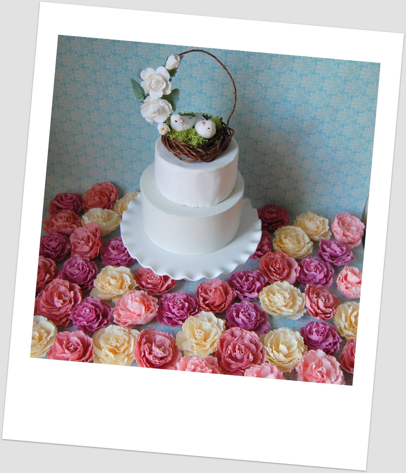 Flower Cake Toppers For Weddings: Wedding Cake Topper - Woodland