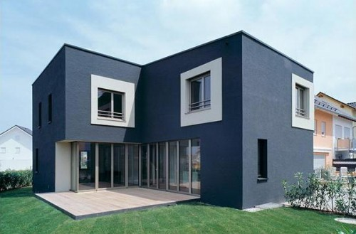 Beautiful Consist Of Various Structure Building, This Modern Bungalow House Has Flat  Roof With Rectangular Shape Like. The Flat Roof Like A Floating Items  Support ...