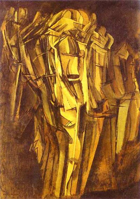 Duchamp. Sad Young Man in a Train