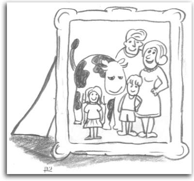 הפרה כבת משפחה (איור)